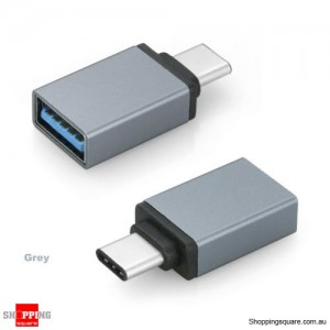 USB 3.1 Type C USB-C Male to USB 3.0 A Female Converter Cable Adapter Grey Colour
