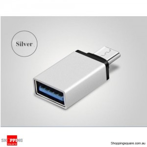 USB 3.1 Type C USB-C Male to USB 3.0 A Female Converter Cable Adapter Silver Colour