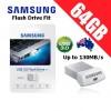 Samsung Flash Drive Fit 64GB MUF-64BB USB 3.0 Memory Stick Up to 130MB/s