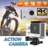 Ultra 4K HD1080P Waterproof Sport Action Camera Supports WiFi Helmet Mounting Silver Colour