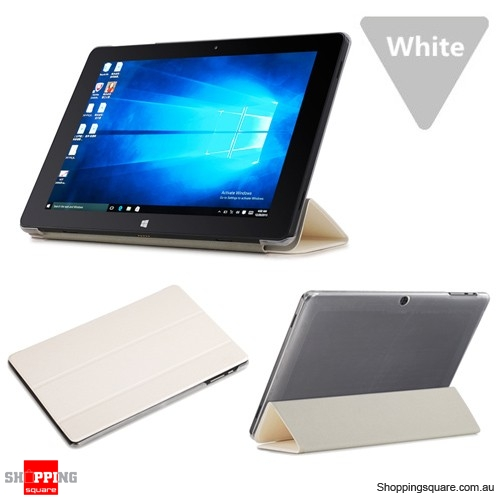 PU Leather Folding Cover Case Stand Accessorory for 10.1 inch Cube Iwork10 Ultimate Tablet White Colour