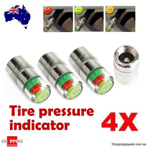 4 X Tire Pressure Indicator Valve Stem Caps - Online ...