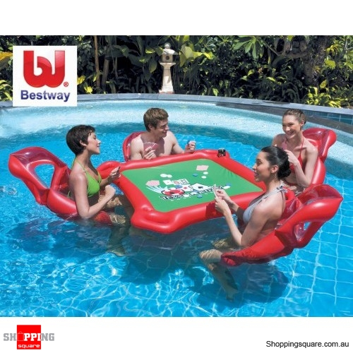 Bestway Inflatable Texas Hold 'Em Pool Poker Set