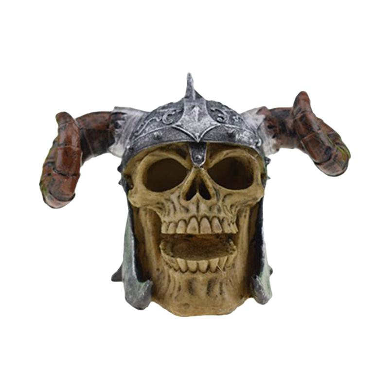 Halloween Skull Decor Horror Toy Human Prop Resin Skull Head Ornament Party Decorations #04