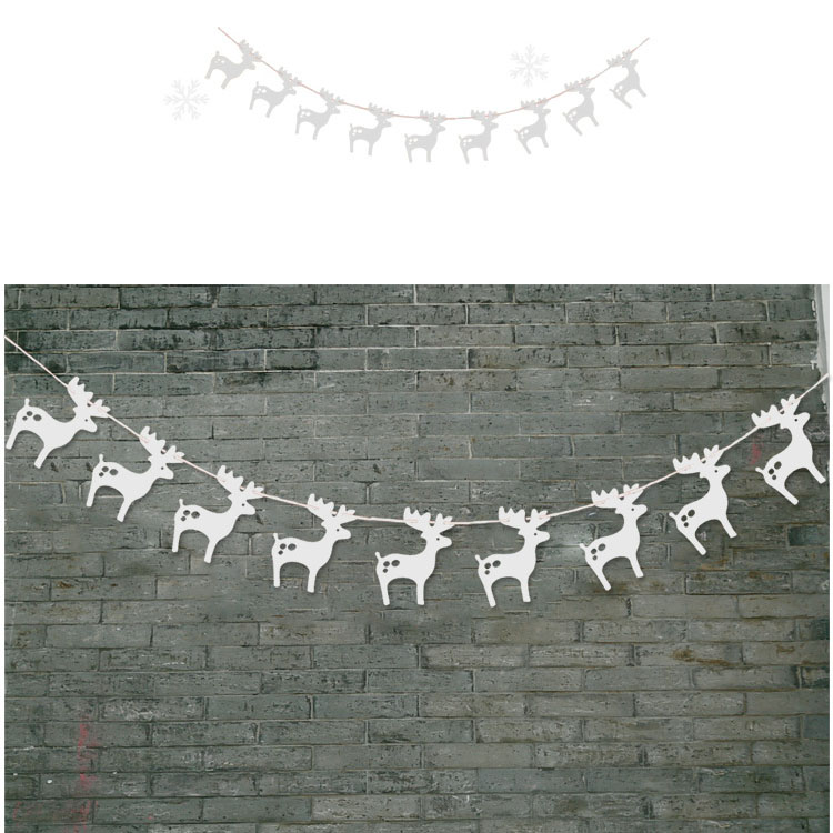 3M Christmas Banner Paper Garlands for Christmas Party Supplies Xmas decoration - Silver