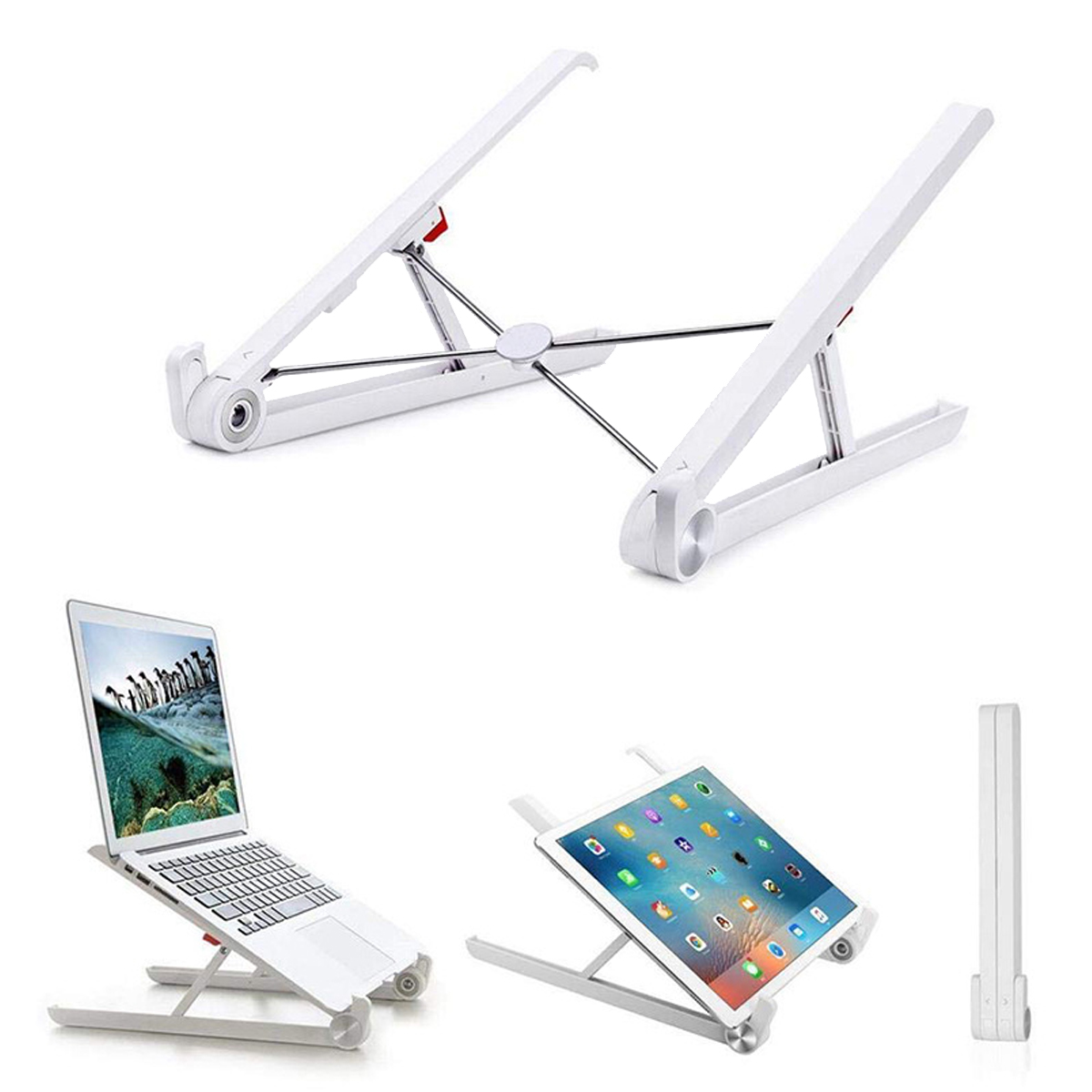 Portable Desktop Foldable Height Adjustable Notebook Stand Heat Dissipation For Notebook MacBook 11.0-17.0 Inches