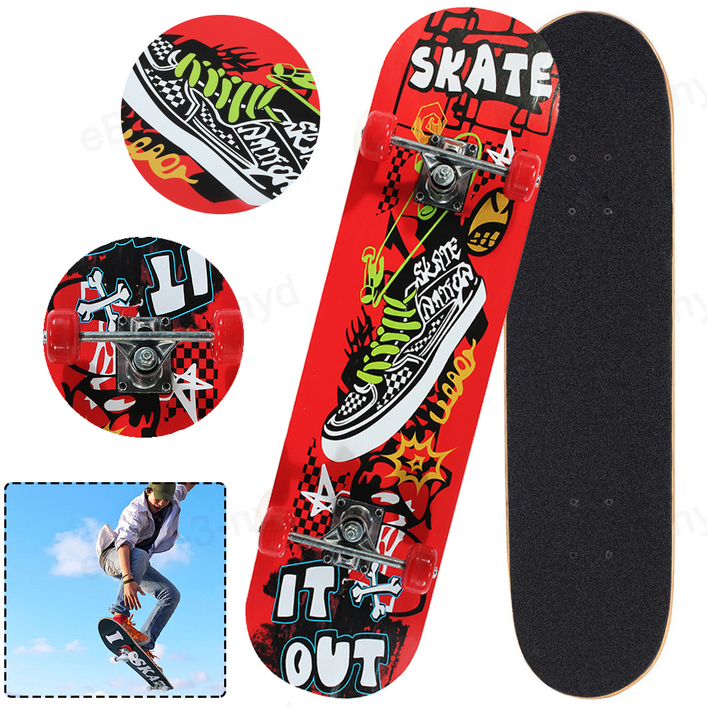 31inch Skateboard Scooter Deck with PVC Wheel High impact Skate Board Ideal For Beginner and Pro