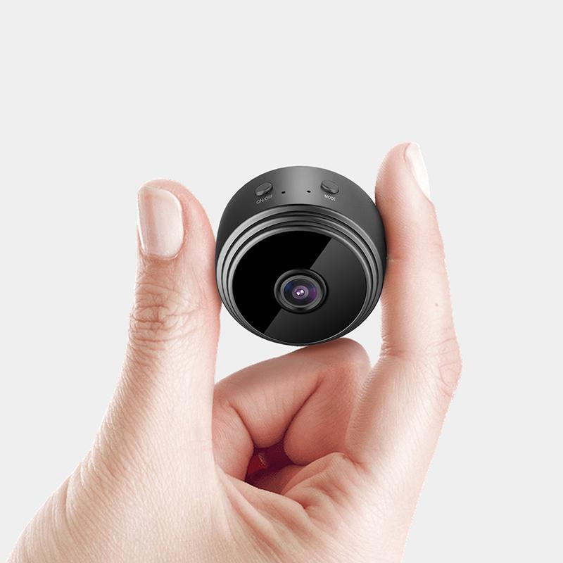 A9 1080P HD Wireless WiFi Mini IP Camera 90 Wide-angle IP Security Surveillance Night Vision Camera Little Stars APP - Black
