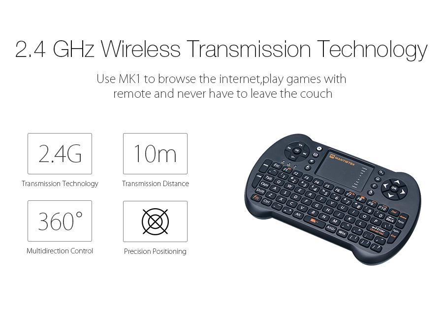 MantisTek® MK1 2 4GHz Wireless Mini Keyboard with Touchpad Mouse Remote  Control for Android Windows - Shoppingsquare Australia